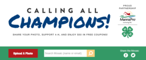 screen shot of the MannaPro Calling All Champions promotion page