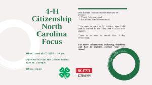 Cover photo for Citizenship North Carolina Focus