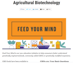 Cover photo for FDA Starts New Agriculture Biotech Education Website