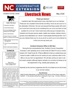Cover photo for May Livestock Newsletter