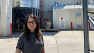 Andrea Rubio at the NC State Feed Mill Education Unit