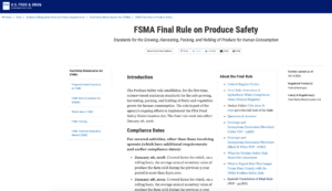 Cover photo for FDA Releases Spanish Translation of the Produce Safety Rule