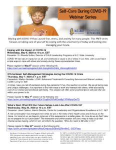 Cover photo for Self-Care During COVID-19 Webinar Series