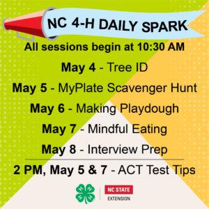 NC 4-H Daily SPARK Week 7