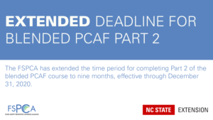 Extended deadline for blended PCAF Part 2