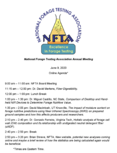 Cover photo for National Forage Testing Association Meeting (ONLINE)