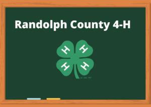chalkboard with 4-H