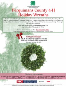 Cover photo for Perquimans 4-H Offers Holiday Wreaths