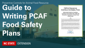 teal banner with text Guide to Writing PCAF Food Safety Plans