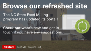 Feed mill with overlay text Browse our refreshed site