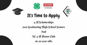 Cover photo for 4-H Scholarship and Honor Club Application Time!