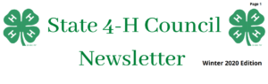 Cover photo for New State 4-H Council Newsletter