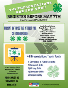 Cover photo for 2020 Vance County 4-H Presentation Day...REGISTER NOW