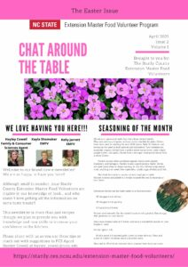 Cover photo for Chat Around the Table Newsletter - Easter Issue 2021