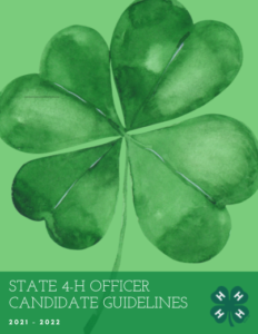Cover photo for State 4-H Officer Candidate Guidelines