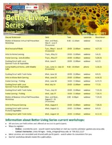 Better Living Series: May - August 2021