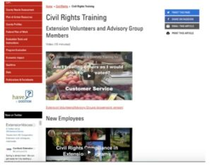 screenshot of civil rights training videos