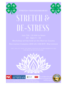 Cover photo for Stretch and De-Stress