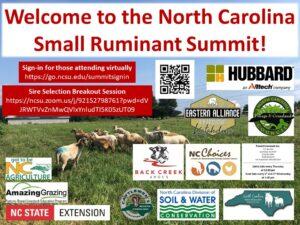 Cover photo for 2021 North Carolina Small Ruminant Summit Proceedings