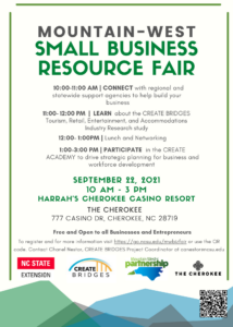 Cover photo for Create Academy and Business Resource Fair in Mountain West Region