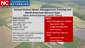 Cover photo for 2021 Animal Waste Management Training
