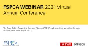 FSPCA Webinar 2021 Virtual Annual Conference banner image