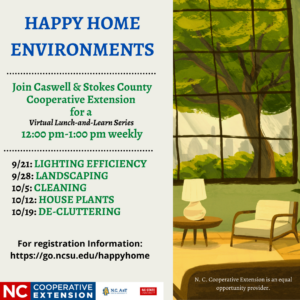 Cover photo for Happy Home Environment Lunch and Learn Series