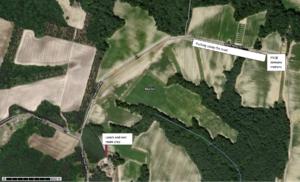 Map of the Slade Farm fields