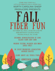 Cover photo for NCSPA Fall Fiber Fun