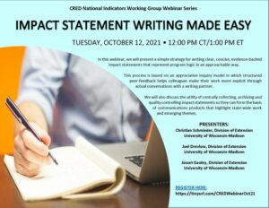 Cover photo for Register for Impact Statement Writing Made Easy Webinar on Tuesday, October 12